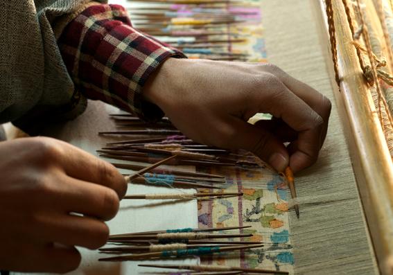 Manufaktur von Kashmir-Schals